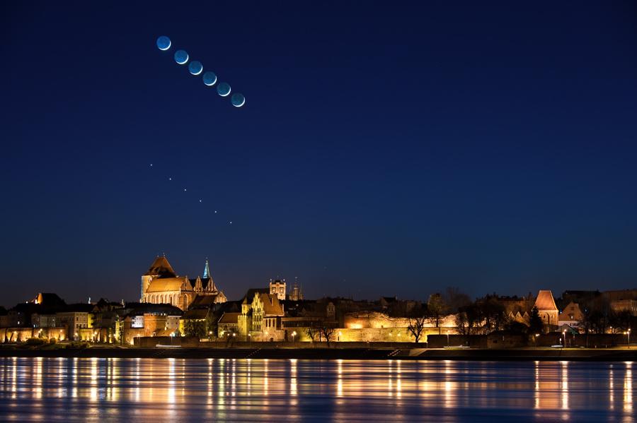 Koniunkcja Księżyca zMerkurym iWenus