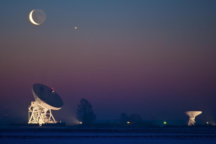 Koniunkcja Księżyca zWenus.