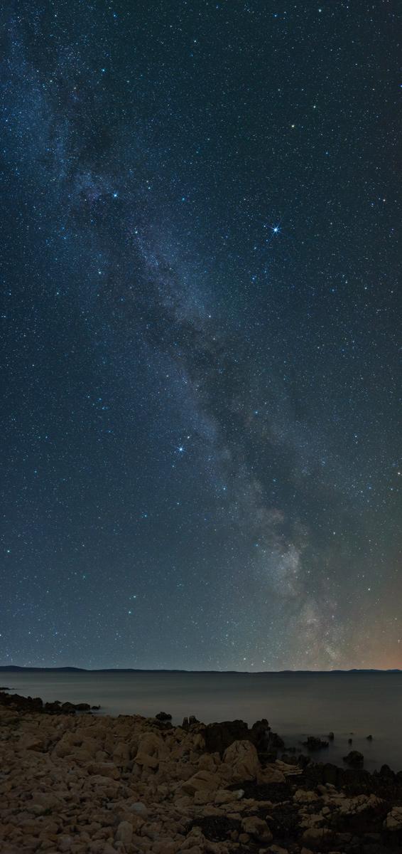 Droga Mleczna widziana zChorwacji