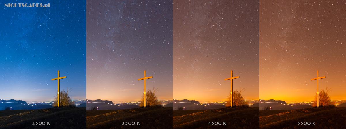 Balans bieli wfotografii ruchu gwiazd