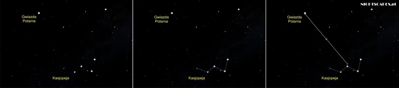 Jak odszukać Gwiazdę Polarną wykorzystując Kasjopeję