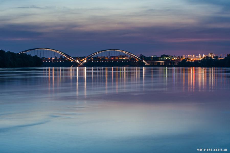 Most im.gen. Zawackiej wToruniu ozmroku