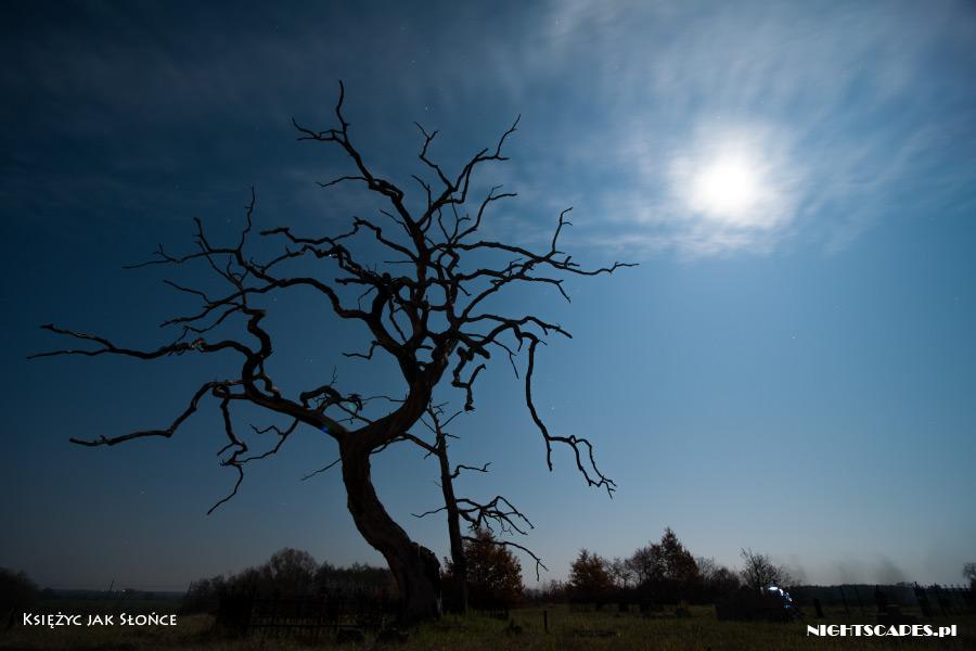 Błędy wfotografii gwiazd: Księżyc wkadrze