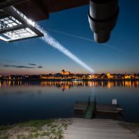 Oświetlenie mostu świetlnego Toruń