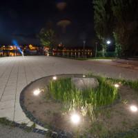 Oświetlenie punktu widokowego na Kępie Bazarowej w Toruniu.