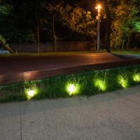 Oświetlenie punktu widokowego w Toruniu.