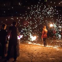 Skyway 2010 Fireshow - pokaz w fosie zamkowej