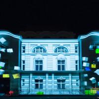 Skyway 2012 Mapping 3D na fasadzie budynku teatru Horzycy