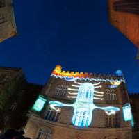 Skyway 2012 projekcja na budynku sądu