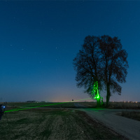 Ustawienie ostrości z wykorzystaniem zielonego lasera.