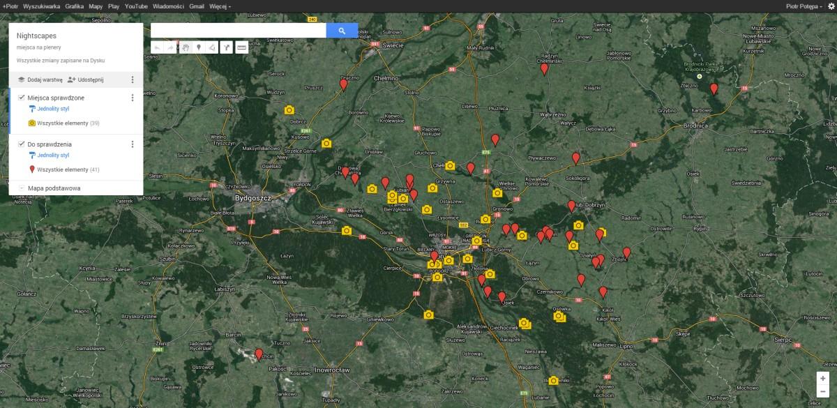 Narzędzia doplanowania iszukania kadru. MojeMapy wserwisie Google Maps.