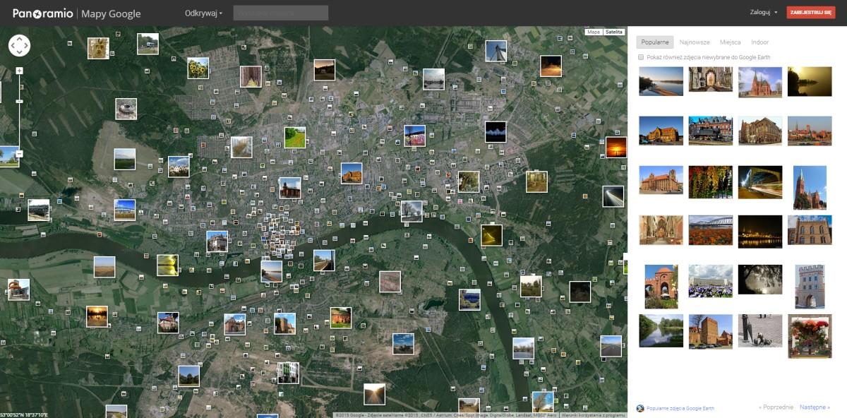 narzędzia doplanowania iszukania kadru - panoramio