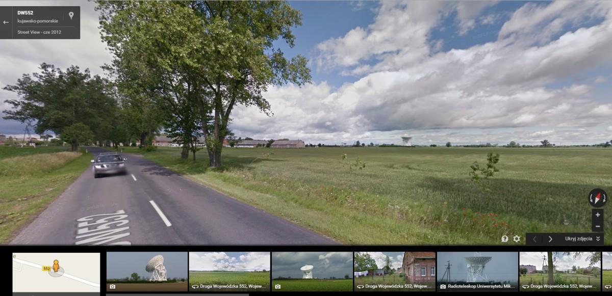 Narzędzia doplanowania iszukania kadru - Google street view.