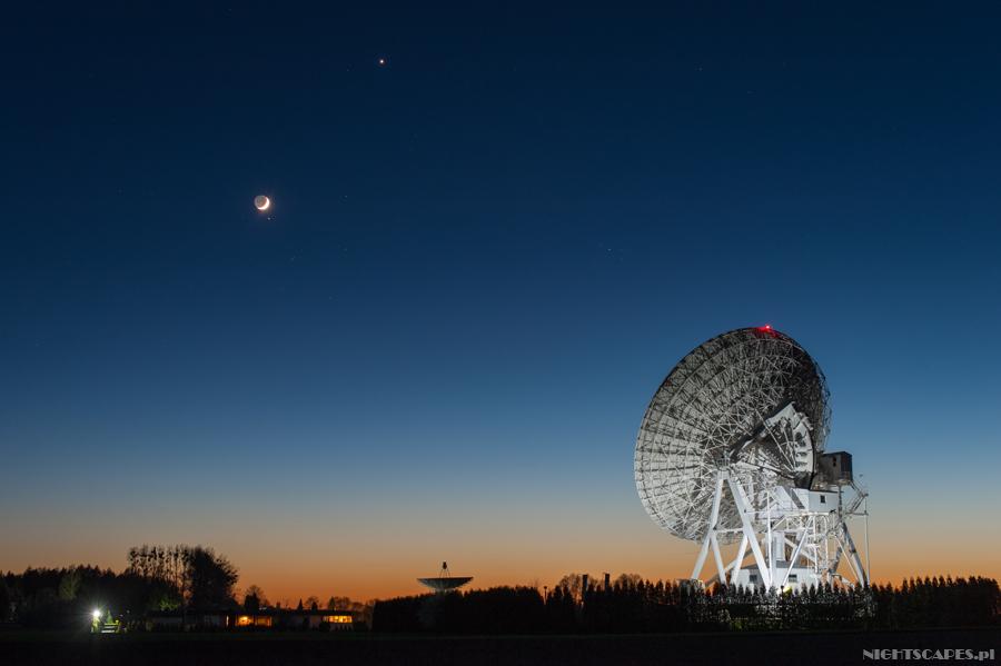 Koniunkcja Ksężyca, Wenus iAldebarana wpodtoruńskich Piwnicach
