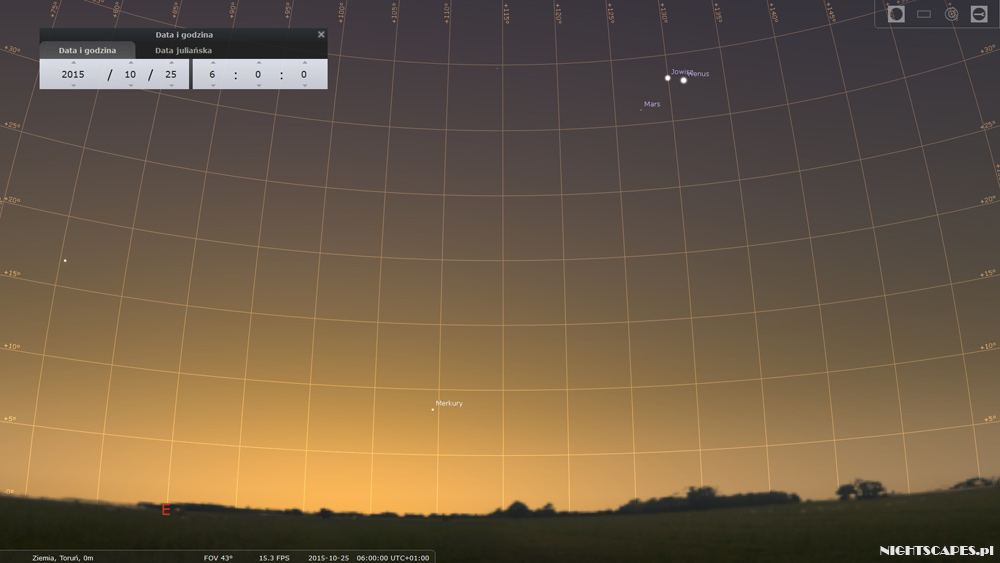 Koniunkcja Jowisza iWenus - 25 października 2015.