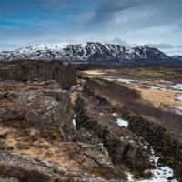 Þingvellir - strefa łączenia płyt tektonicznych.
