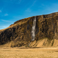 Jeden z wodospadów na Islandii.