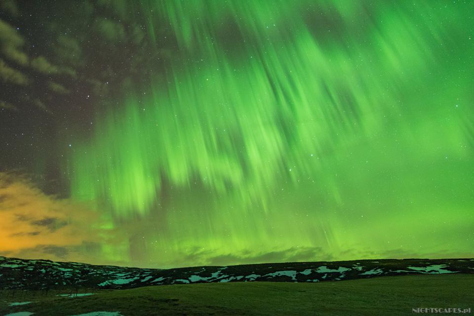 """""""Deszcz"""" zzorzy polarnej naIslandii."""