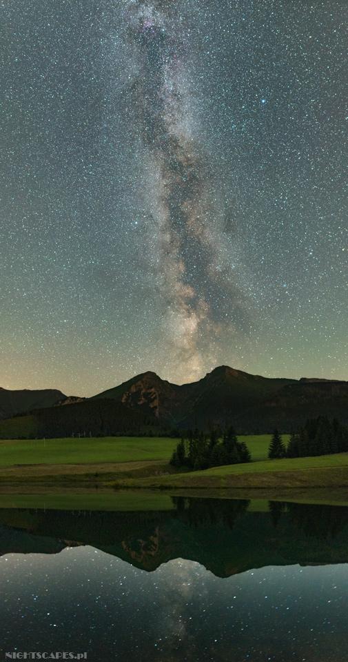 Droga Mleczna nadTatrami Bielskimi