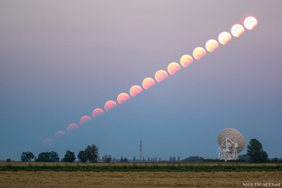 Przebieg częściowego zaćmienia Księżyca 2017