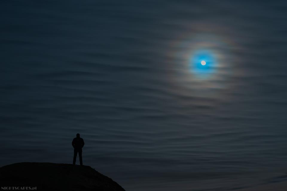 Księżycowa korona, wieniec, lisia czapa, lunar corona, corona.