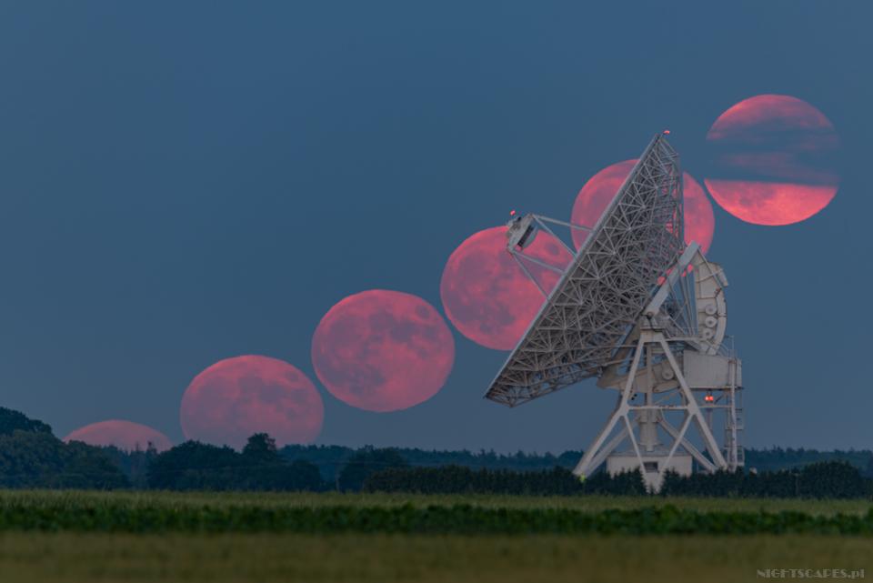 Księżyc nadradioteleskopem
